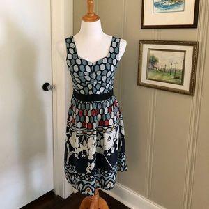 Line & Dot sz M blue silk dress